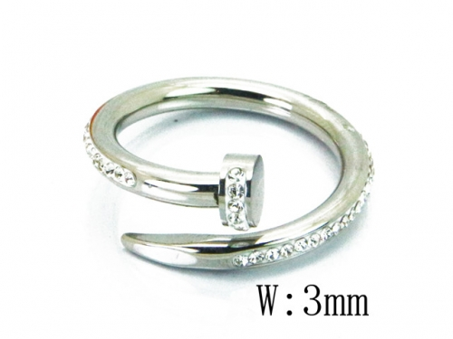 HY Wholesale 316L Stainless Steel Rings-HY19R0001PW