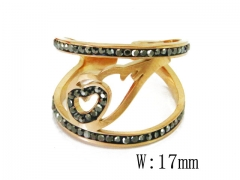 HY Wholesale 316L Stainless Steel Rings-HY19R0015HSS