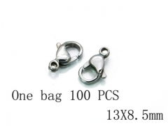 HY Wholesale 316L Stainless Steel Lobster Claw Clasp-HY73A0008IZZ