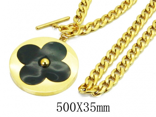 HY Wholesale 316L Stainless Steel Necklace-HY41N0009HJA