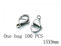 HY Wholesale 316L Stainless Steel Lobster Claw Clasp-HY73A0009IJZ