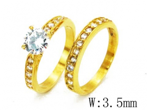 HY Wholesale 316L Stainless Steel Rings-HY46R0158HNS