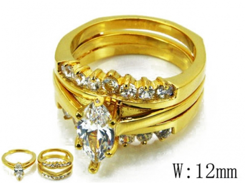 HY Wholesale 316L Stainless Steel Rings-HY46R0588IZV