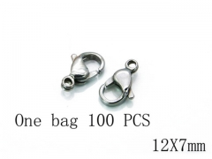 HY Wholesale 316L Stainless Steel Lobster Claw Clasp-HY73A0007HOZ