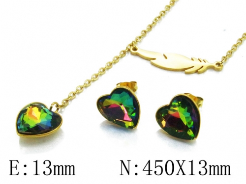 HY Wholesale 316L Stainless Steel jewelry Set-HY85S0289N5