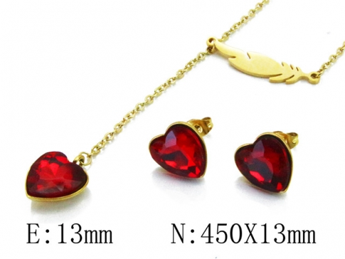 HY Wholesale 316L Stainless Steel jewelry Set-HY85S0288NL
