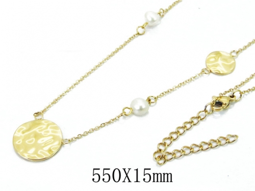 HY Wholesale 316L Stainless Steel Necklace-HY20N0034HJR