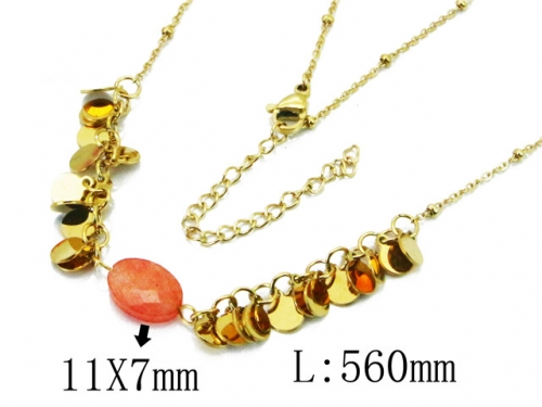 HY Wholesale 316L Stainless Steel Necklace-HY20N0112HLD