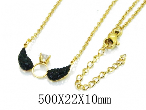 HY Wholesale 316L Stainless Steel Necklace-HY20N0095PX