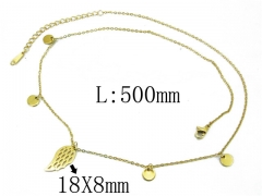 HY Wholesale 316L Stainless Steel Necklace-HY24N0004HZL
