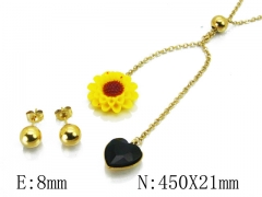 HY Wholesale 316L Stainless Steel jewelry Set-HY85S0292N5