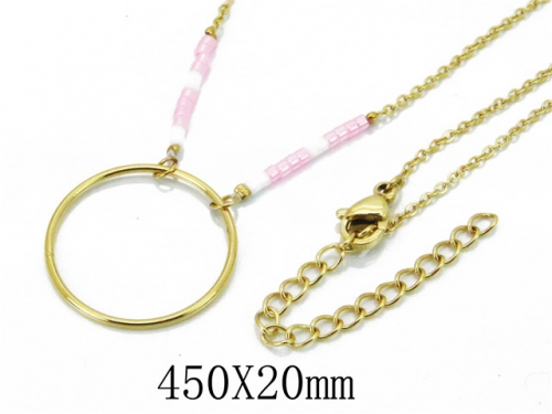 HY Wholesale 316L Stainless Steel Necklace-HY20N0004PQ