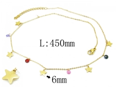 HY Wholesale 316L Stainless Steel Necklace-HY20N0057HIX