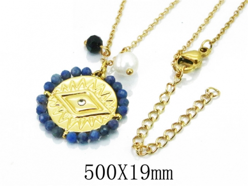 HY Wholesale 316L Stainless Steel Necklace-HY20N0025HLW