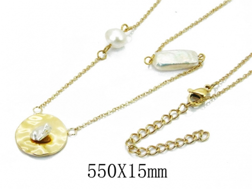 HY Wholesale 316L Stainless Steel Necklace-HY20N0033HJX