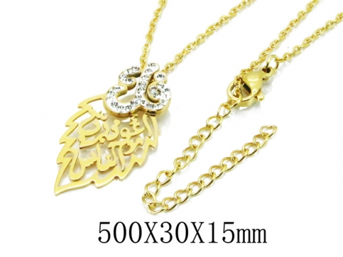 HY Wholesale 316L Stainless Steel Necklace-HY20N0092PT