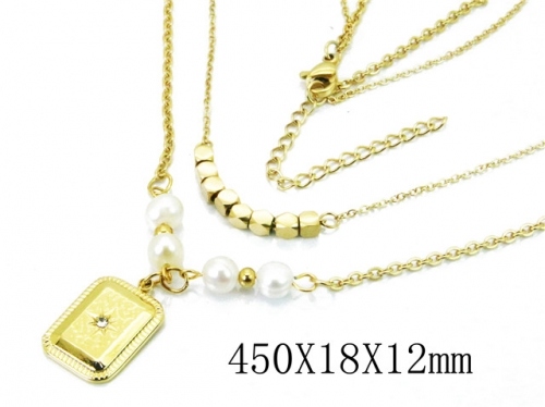 HY Wholesale 316L Stainless Steel Necklace-HY20N0038HMC