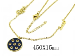 HY Wholesale 316L Stainless Steel Necklace-HY20N0114OX