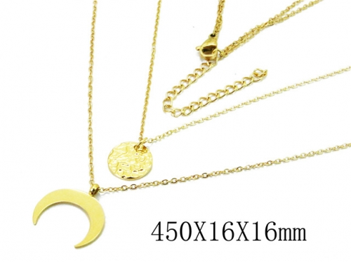 HY Wholesale 316L Stainless Steel Necklace-HY20N0039HIF