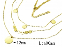 HY Wholesale 316L Stainless Steel Necklace-HY20N0109HOC