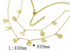 HY Wholesale 316L Stainless Steel Necklace-HY20N0110HOX
