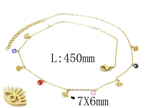 HY Wholesale 316L Stainless Steel Necklace-HY20N0061HIE