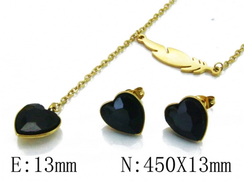 HY Wholesale 316L Stainless Steel jewelry Set-HY85S0286N5
