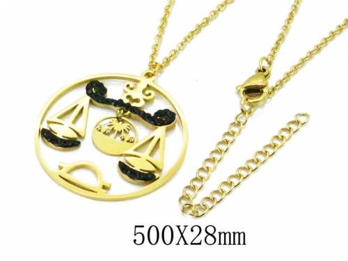 HY Wholesale 316L Stainless Steel Necklace-HY20N0082PA