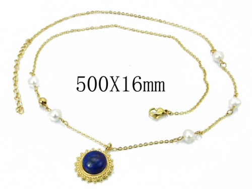 HY Wholesale 316L Stainless Steel Necklace-HY20N0021HJS
