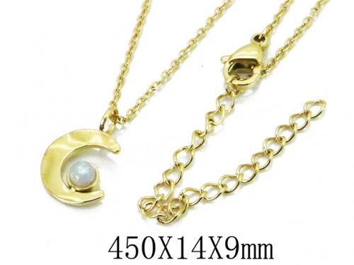HY Wholesale 316L Stainless Steel Necklace-HY20N0019NV