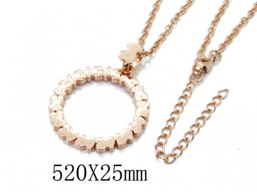 HY Stainless Steel 316L Necklaces (Bear Style)-HY90N0150HMR