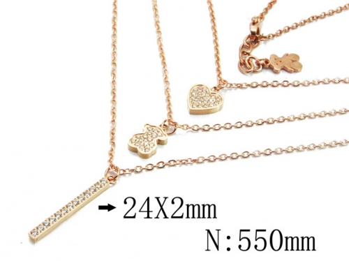 HY Stainless Steel 316L Necklaces (Bear Style)-HY90N0145IOE