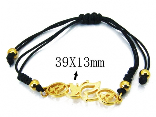 HY Stainless Steel 316L Bracelets (Rope Weaving)-HY76B1744KS