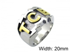 HY Wholesale 316L Stainless Steel Rings-HY0055R020