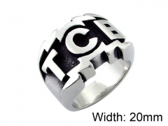 HY Wholesale 316L Stainless Steel Rings-HY0055R018