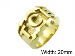 HY Wholesale 316L Stainless Steel Rings-HY0055R019