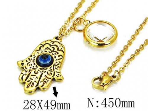 HY Wholesale Stainless Steel 316L Necklace-HY12N0502MY