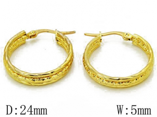 HY Stainless Steel Twisted Earrings-HY68E0023O0