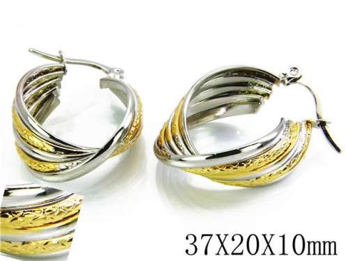 HY Stainless Steel Twisted Earrings-HY70E0250NL