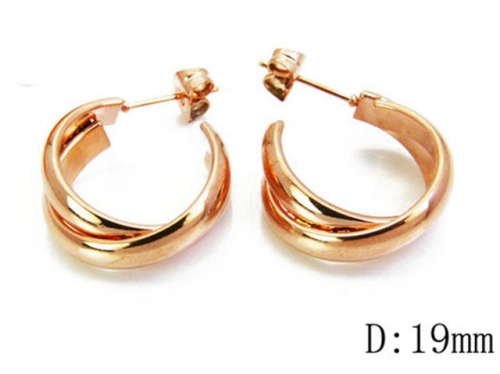 HY Stainless Steel Twisted Earrings-HY70E0444LL