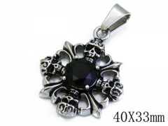 HY Stainless Steel 316L Pendants (Skull Style)-HY06P0842H20