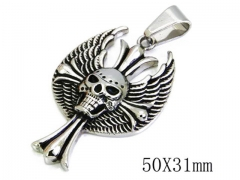 HY Stainless Steel 316L Pendants (Skull Style)-HY06P0803P0