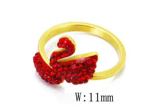 HY 316L Stainless Steel Small CZ Rings-HY80R0140MS