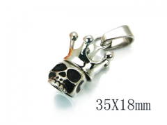 HY Stainless Steel 316L Pendants (Skull Style)-HY22P0508HLW