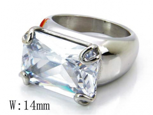 HY 316L Stainless Steel Big CZ Rings-HY15R0706H50