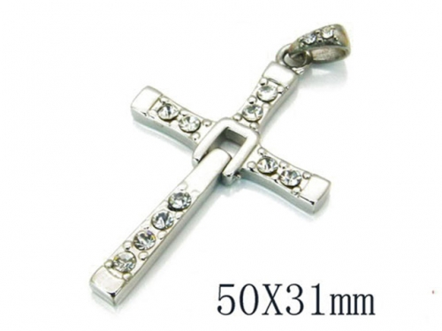 HY 316L Stainless Steel Cross Pendants-HY22P0460HLQ