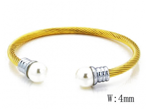 HY Stainless Steel 316L Bangle (Steel Wire)-HY38B0284H60