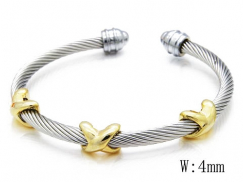 HY Stainless Steel 316L Bangle (Steel Wire)-HY38B0357H60