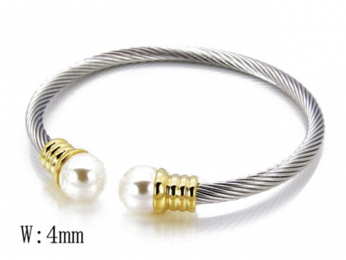 HY Stainless Steel 316L Bangle (Steel Wire)-HY38B0285H30