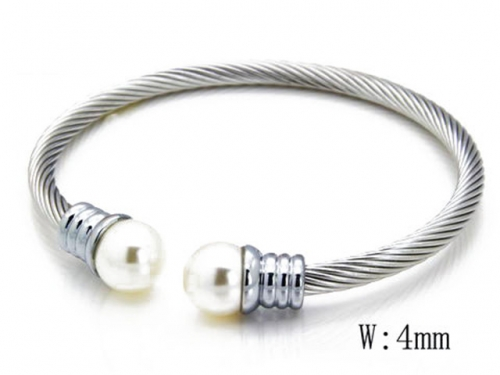 HY Stainless Steel 316L Bangle (Steel Wire)-HY38B0283H20